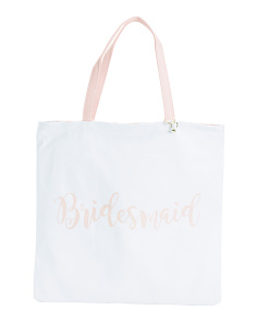 Bridesmaid Reversible Canvas Tote