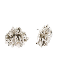 Made In Israel Sterling Silver Flower Earrings