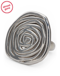 Made In Israel Sterling Silver Swirly Ring
