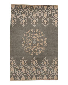 Made In India Medallion Wool Area Rug