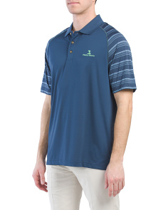 Stripe Sleeve Golf Polo