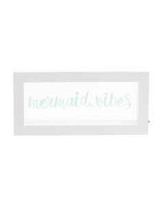 Framed LED Mermaid Vibes Sign