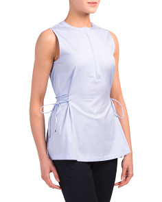 Sleeveless Tied Popover Top