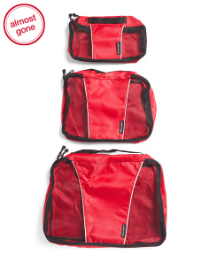 3pk Packable Travel Cubes Large