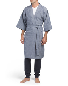 Men's Chambray Spa Robe