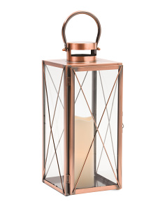 Metal Lantern With Rigid Glass Panes