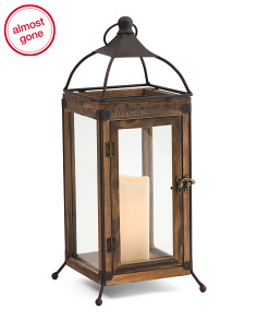 Wood Open Wire Lantern