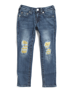 Little Girls Stretch Denim Jeans