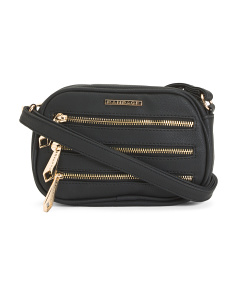 Triple Zip Crossbody