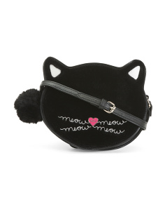 Cat Shaped Velvet Crossbody