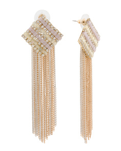 Gold Tone Fringe Earrings
