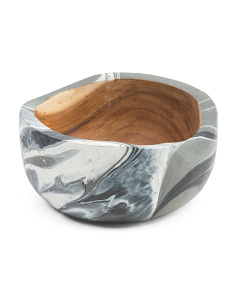 Made In Indonesia 9in Marble Bowl