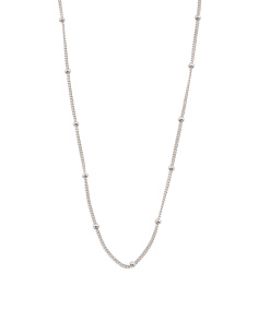 Sterling Silver Satellite Swarovski Accents Chain Necklace