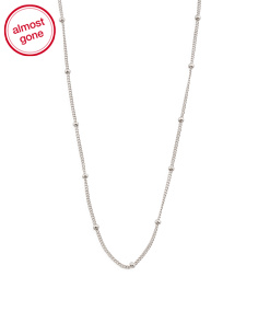 Sterling Silver 18 Inch Satellite Swarovski Accents Chain