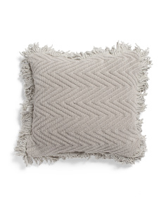 Made In India 18x18 Chenille Chevron Pillow