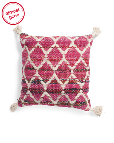 Made In India 18x18 Diamond Chindi Pillow