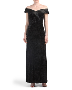 Off The Shoulder Velvet Gown