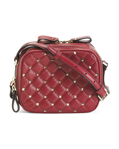 Made In Italy Rockstud Spike Leather Crossbody