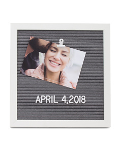 4x6 Message Board Photo Clip Display