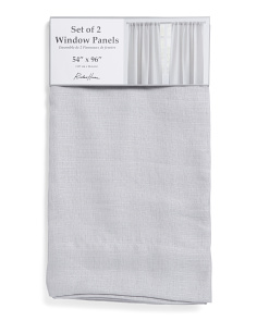 Set Of 2 54x96 Linen Look Curtains