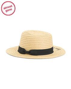 Boater Hat With Bon Voyage