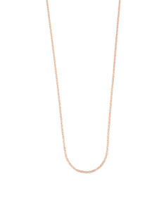 Made In Italy 18k Rose Gold Plated Bronze Forzatina Chain