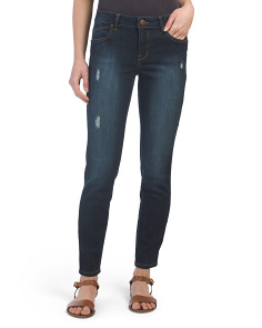 Destructed Clean Ankle Jeans