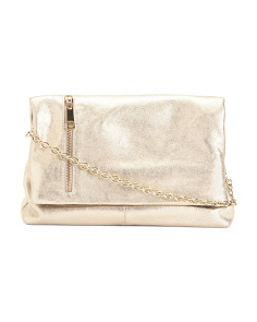 Metallic Leather Crossbody