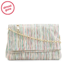 Striped Leather Crossbody
