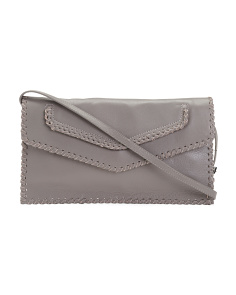 Braided Leather Clutch