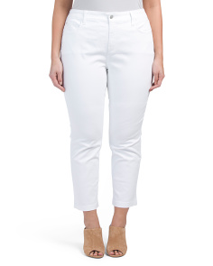 Plus Audrey Fine Line Twill Ankle Pants