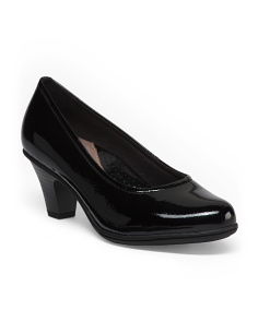 Wide Patent Leather Dress Pumps
