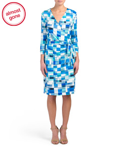Carrie Printed True Wrap Dress