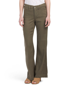 Petite Made In USA Linen Claire Trousers