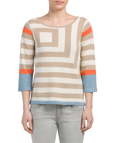 Striped Lightweight Pullover Sweater