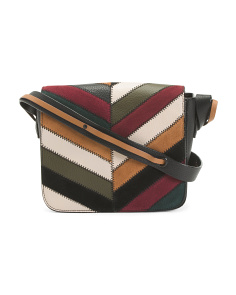Leather Modern Chevron Crossbody