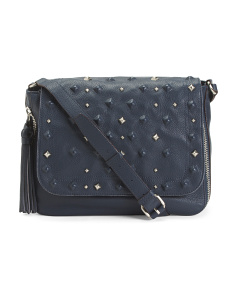 Leather Rockstars Flap Messenger