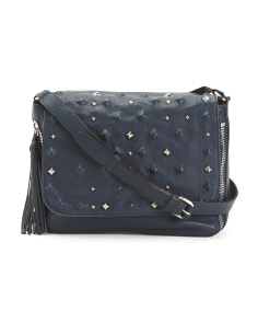 Rockstars Flap Leather Messenger