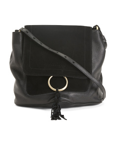 Up To The Minute Leather Crossbody
