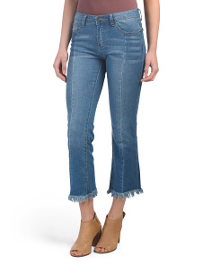 Juniors Crop Two Tone Jeans