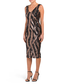 Made In Usa Anna Sequin Midi Dress