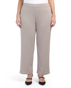Plus Stretch Pull On Wide Leg Pants