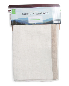 39x84 Set Of 2 Linen Look Curtains