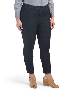 Plus Comfort Fit Booty Enhancing Skinny Ankle Jeans