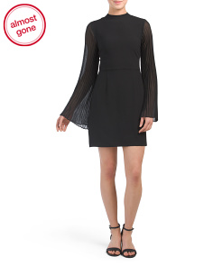 Yasmina Mock Neck Mini Dress