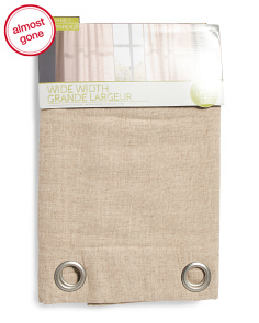 54x84 Set Of 2 Linen Textured Curtains