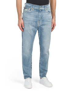 Slim Drop Rise Jeans With Flap Pockets