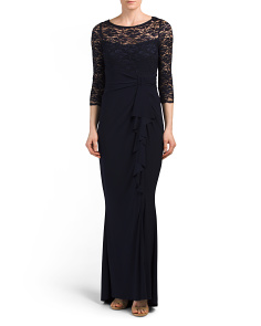 Cascade Side Gown