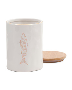 Ceramic Fish Canister