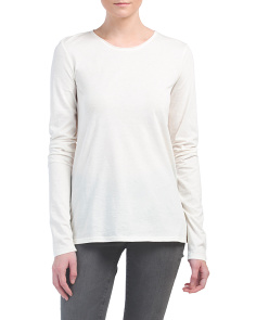 Made In USA Basic Cashmere Blend Top